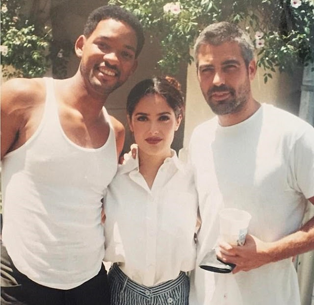 Salma Hayek shares a throwback picture of George Clooney on his birthday.
