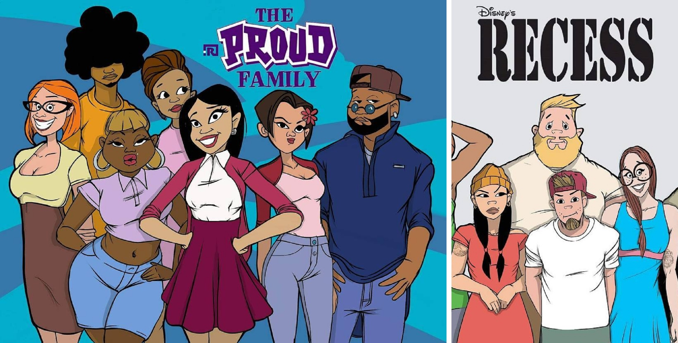 """Artist creates """"Grown Up"""" versions of our favorite cartoons and they're EPIC. See pics."""