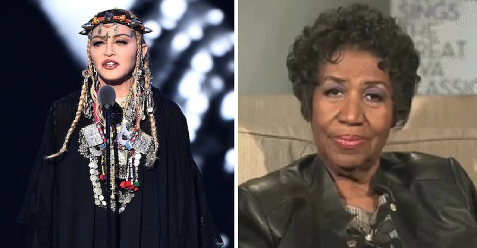 VMA chose Madonna to pay homage to Aretha Franklin – but folks ain't having it!