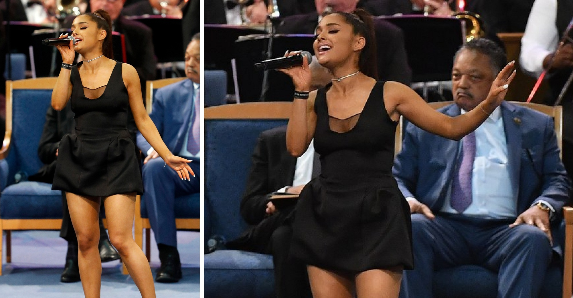 Watch: Ariana Grande delivers a powerful rendition of 'Natural Woman' at Aretha Franklin funeral