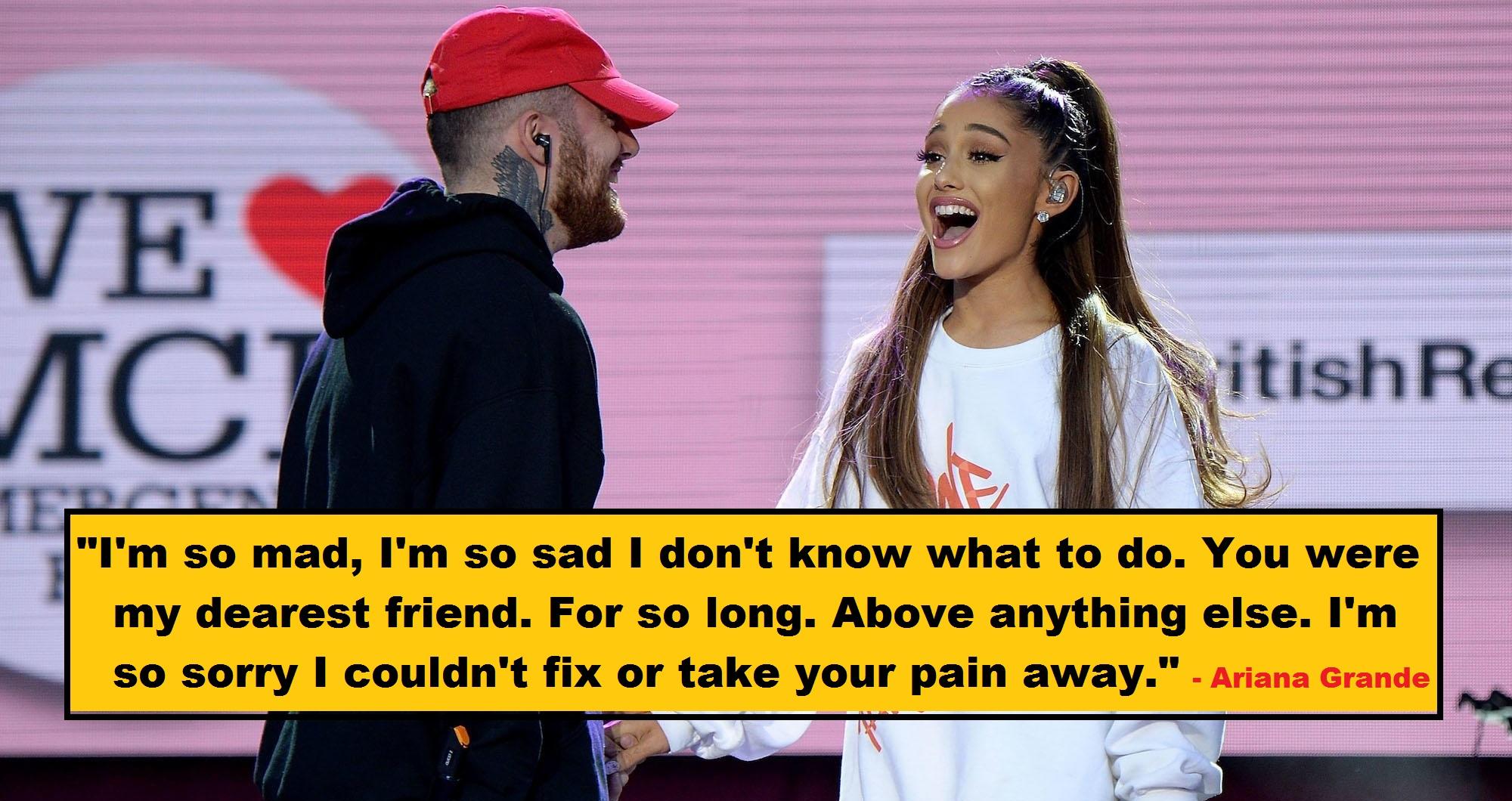 Ariana Grande Posts Emotional Message Remembering Mac Miller