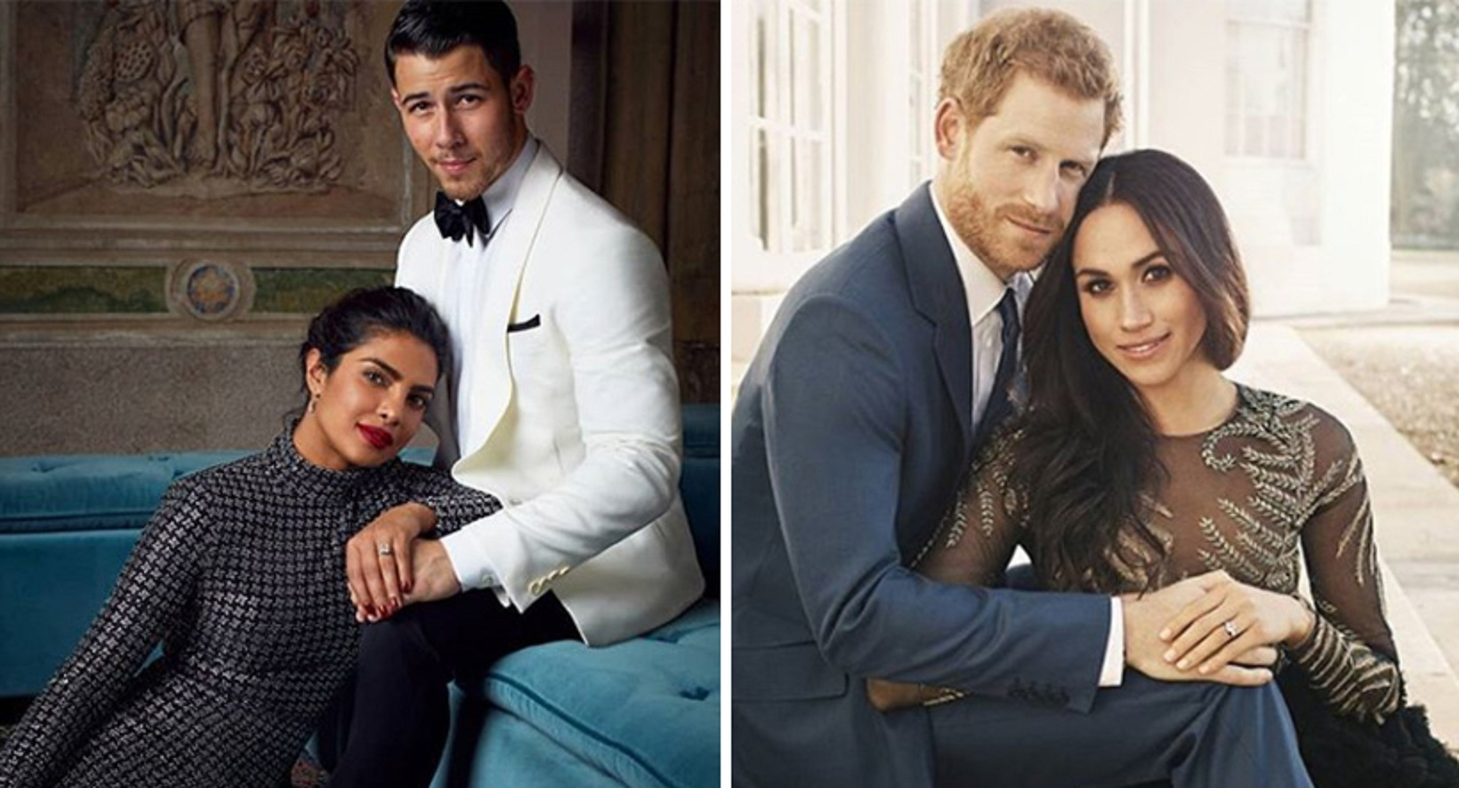 Priyanka Chopra and Nick Jonas recreate Meghan and Harry's engagement pose!