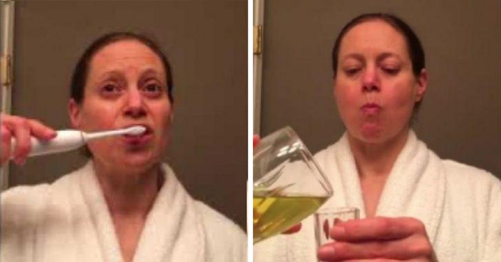 Woman Drinks Her Own Urine Routinely Claiming It Helps Her Lose Weight. Also Rinses Her Eyes with it!