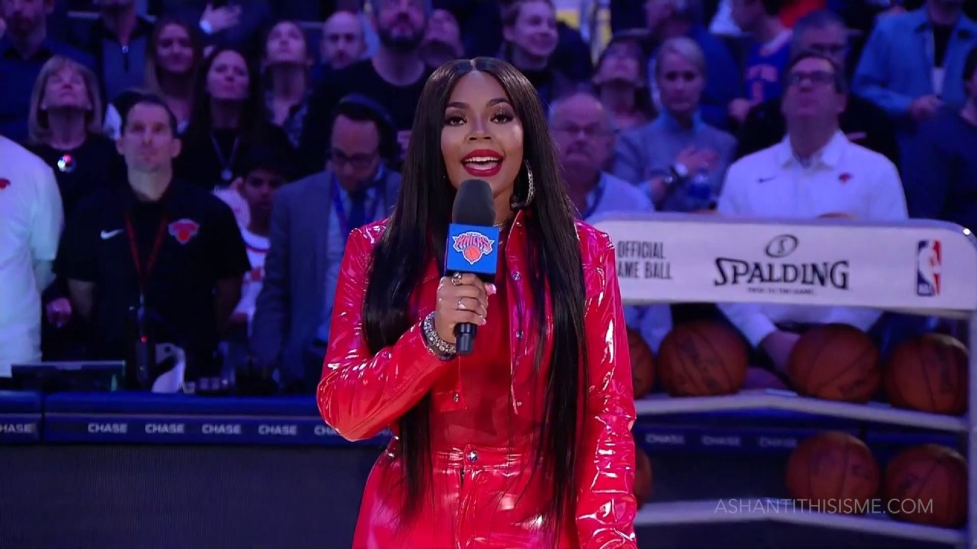 Watch: Ashanti Performs US National Anthem at NBA Game!
