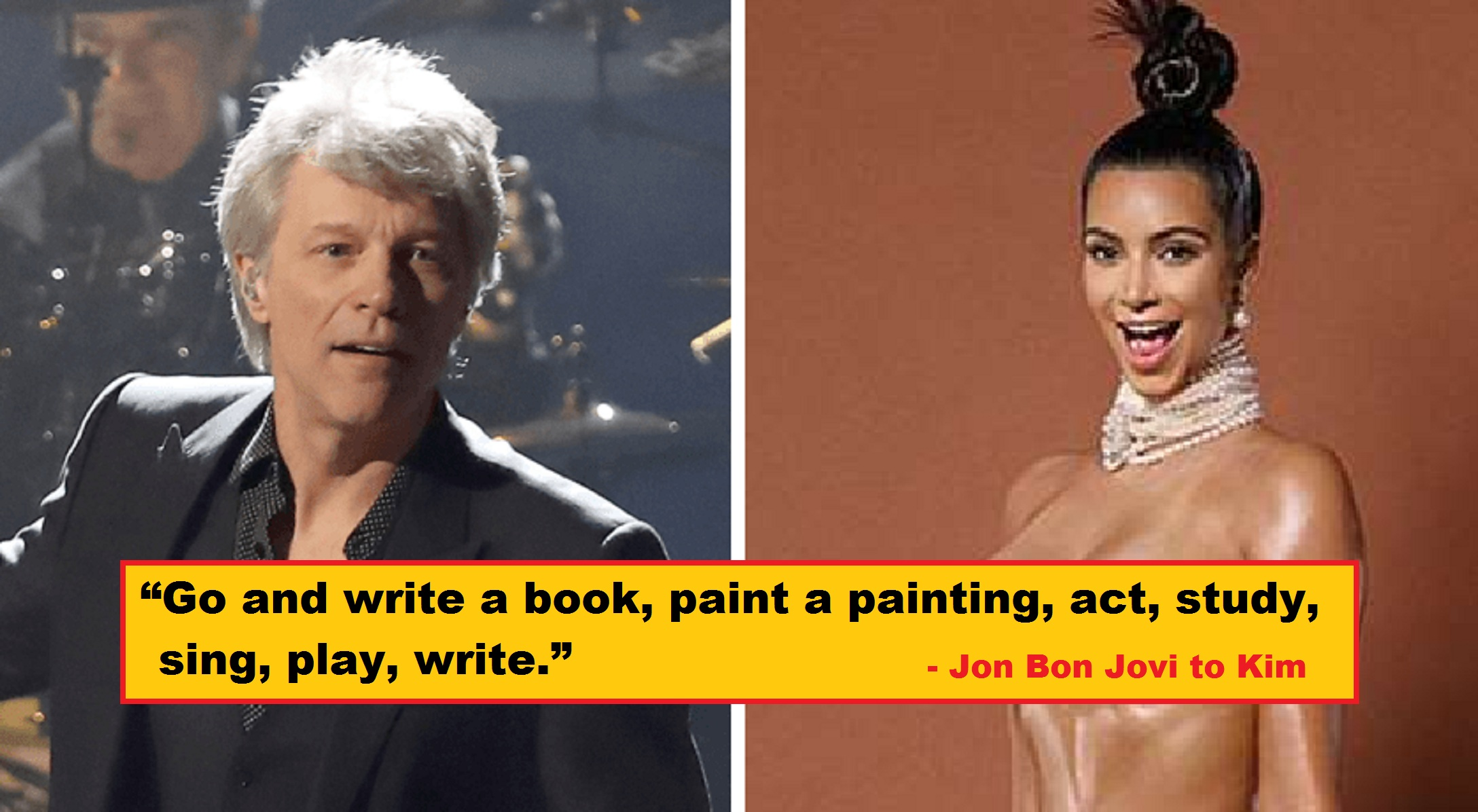 "Jon Bon Jovi Drags Kim Kardashian: ""You Made a Porno and Got Famous"""