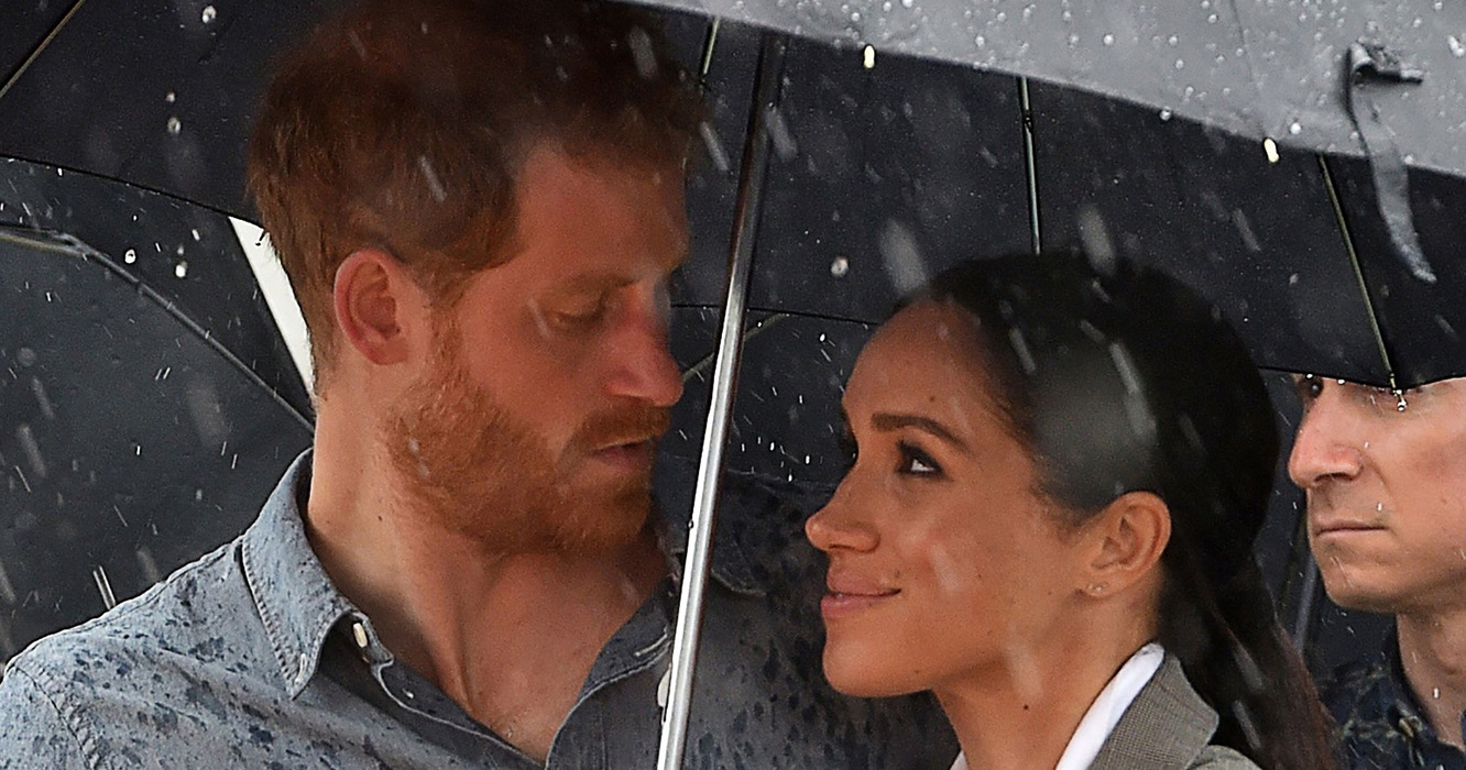 Meghan Markle Held an Umbrella for Prince Harry During His Speech, And It Looked Like an Old-School Romance!