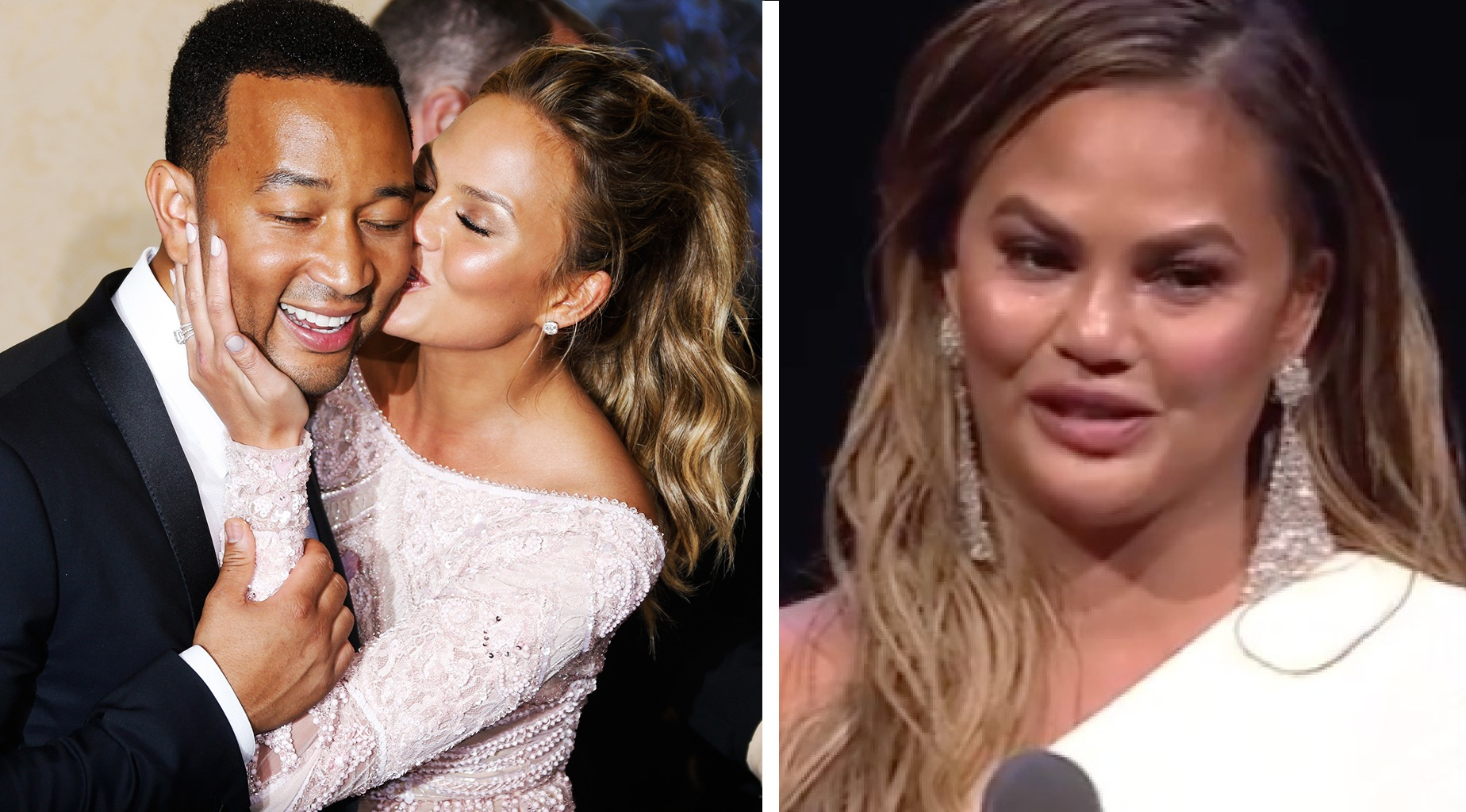 Chrissy Teigen Couldn't Hold Back Her Tears While Thanking John Legend On-Stage!