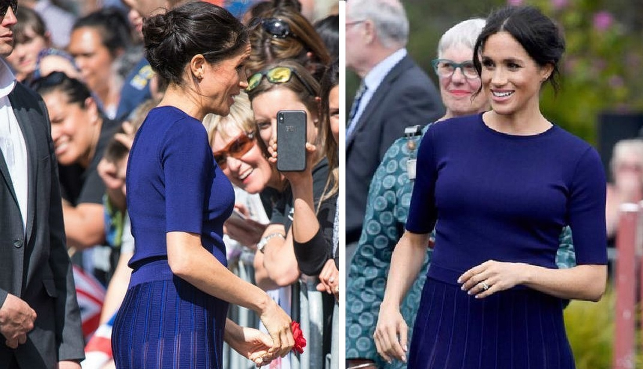 Oops! Sunlight Accidentally Makes Meghan Markle's Dress Sea-Through!