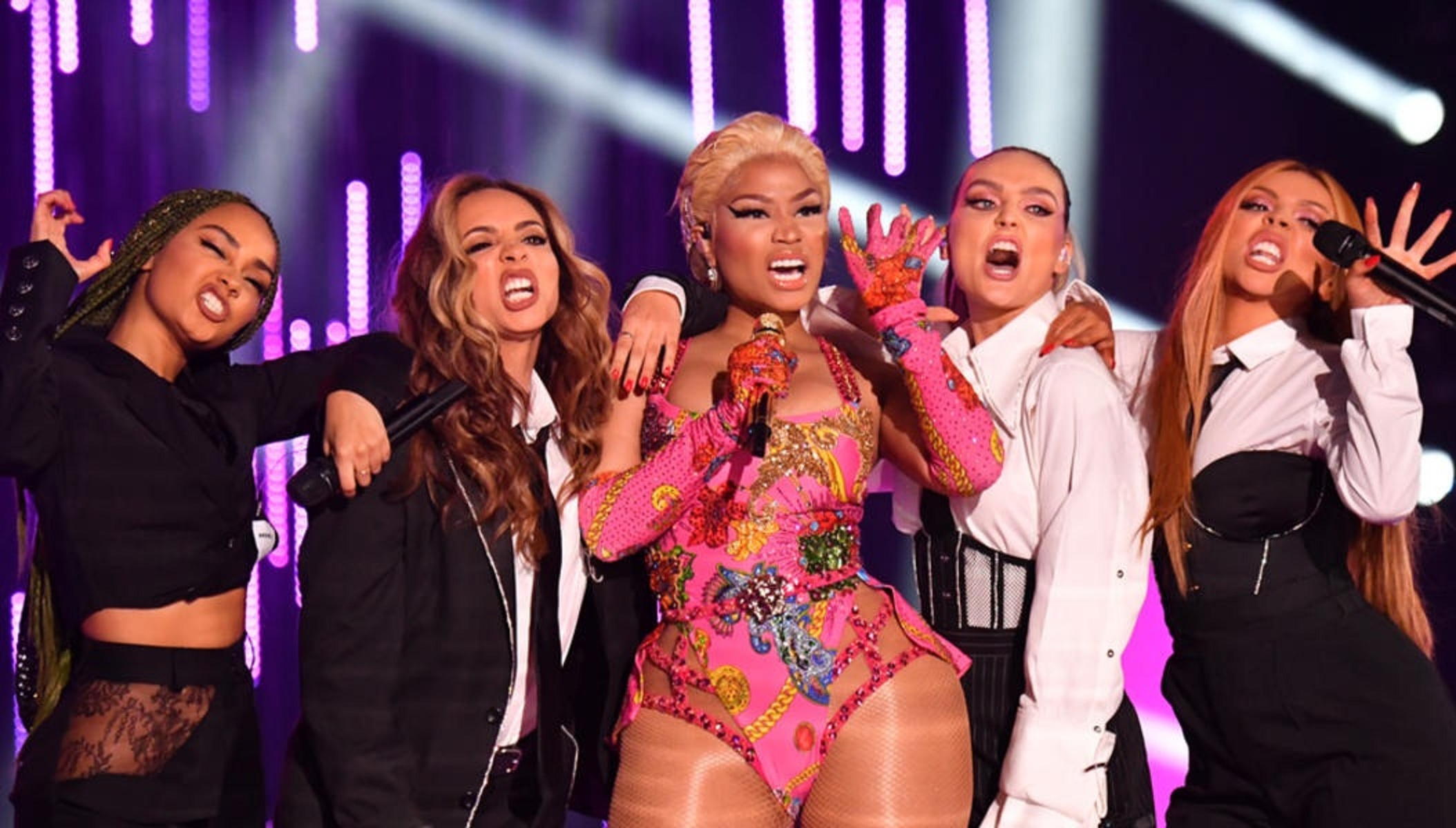 Watch: Nicki Minaj and Little Mix's Super-Lit Performance From EMA's!