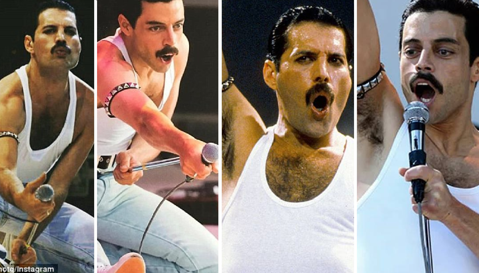 Rami Malek's Recreation of Freddie Mercury's Live Aid Performance Wickedly 'Identical' To The Original